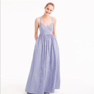 J crew gingham maxi strappy dress